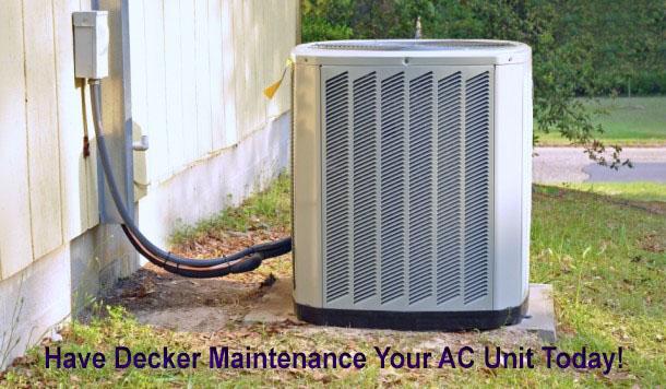 Get your AC unit maintenance today!