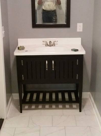 bathroom remodel in greer sc