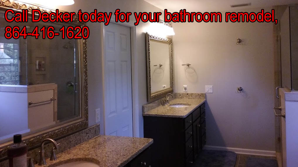 Let Decker help you with your bathroom remodel