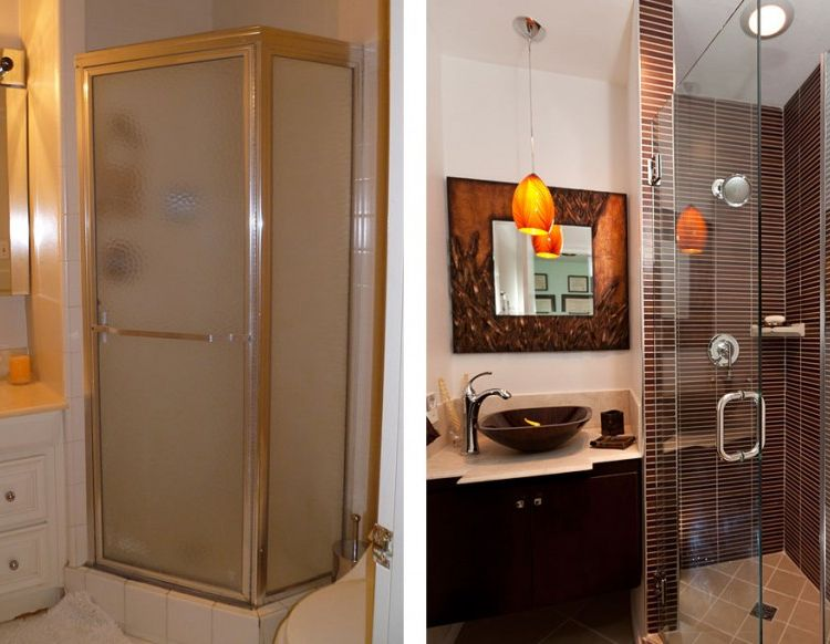 Shower Bathroom Remodel Before And After Home Improvement In